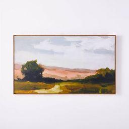 "27"" x 47"" On Sunset Mesa Medium Wood Framed Wall Canvas - Threshold™ designed with Studio McGee   Target"