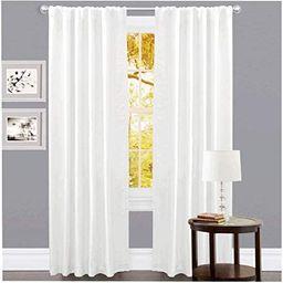 Linen Clubs Set of 2,100% Slub Cotton Duck Curtain White,Cotton Duck Reverse Tab Top Window Panel...   Amazon (US)