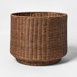 Rattan Fine Weave Round Basket Brown - Project 62™   Target