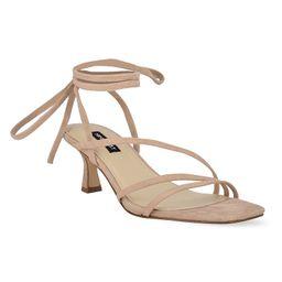 Nine West Agnes Women's Strappy Low Dress Sandals, Size: 5.5, Lt Beige | Kohl's