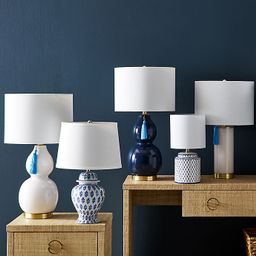One Kings Lane Open House™ Ginny Table Lamp in Blue/White   Bed Bath & Beyond   Bed Bath & Beyond