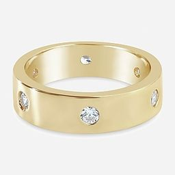 Sterling Forever Gold Classic Station Cubic Zirconia Ring | Express
