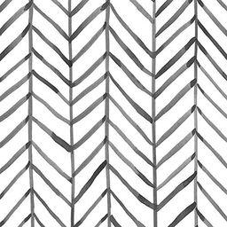 HaokHome 96020-1 Modern Stripe Peel and Stick Wallpaper Herringbone Black White Vinyl Self Adhesi... | Amazon (US)