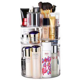 Jerrybox 360 Degree Rotation Makeup Organizer Adjustable Multi-Function Cosmetic Storage Box, Lar... | Amazon (US)