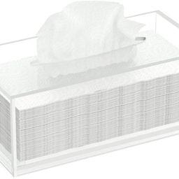 FEMELI Acrylic Tissue Box,Clear Facial Tissue Holder Case Dispenser Napkin Organizer for Bathroom... | Amazon (US)