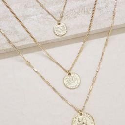 Three Coins Necklace Set   Ettika