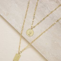 Medallions of Mine Layered Coin Necklace Set   Ettika