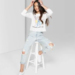 Women's High-Rise Distressed Taper Mom Jeans - Wild Fable™ Light Wash | Target