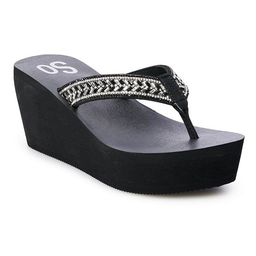 SO® Bubbly Women's Wedge Sandals   Kohl's