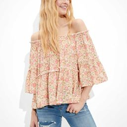 AE Bell-Sleeve Off-The-Shoulder Top | American Eagle Outfitters (US & CA)