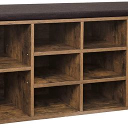 VASAGLE Cubbie Shoe Cabinet Storage Bench with Cushion, Adjustable Shelves, Holds up to 440lb, Ru...   Amazon (US)