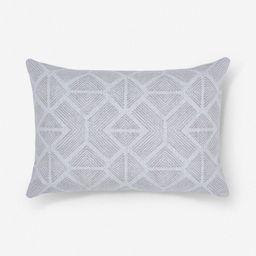 Bali Indoor / Outdoor Lumbar Pillow, Linen | Lulu and Georgia