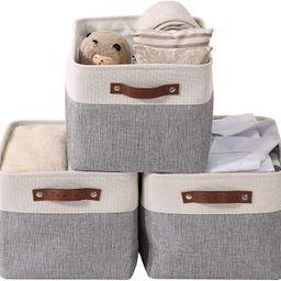 DECOMOMO Foldable Storage Bin   Collapsible Sturdy Cationic Fabric Storage Basket Cube W/Handles ...   Amazon (US)