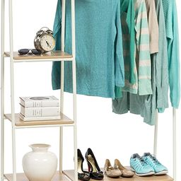 IRIS USA PI-B3 Metal Garment Rack with Shelves, White   Amazon (US)