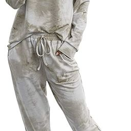Women's Pajama Set Long Sleeve Tops and Shorts PJ Set Sleepwear Night Shirt Loungewear with Pocke...   Amazon (US)