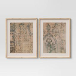 "(Set of 2) 24"" x 30"" Textured Fabric Framed Wall Art - Threshold™   Target"
