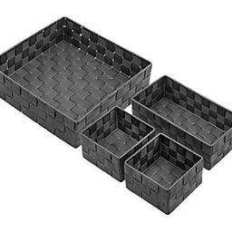 Sorbus 4-Piece Woven Storage Basket Set   QVC