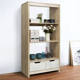 3-Tier Bookshelf Storage Shelves with Drawer for Home   Overstock