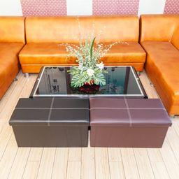 Storage Ottoman, Multipurpose Square Ottoman for Bedroom Living Room   Overstock