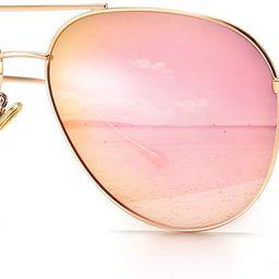 SUNGAIT Women's Lightweight Oversized Aviator Sunglasses - Mirrored Polarized Lens   Amazon (US)