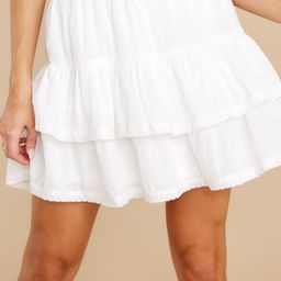Simple Melody White Skirt | Red Dress