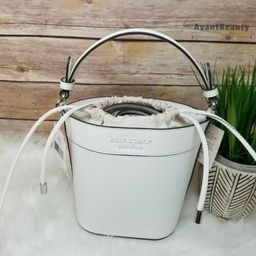 Details about  NWT Kate Spade Cameron Monotone Small Bucket Bag Leather Optic White NEW $299   eBay US