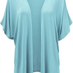 Made By Johnny Women's Kimono Style Short Sleeve Dolman Cardigan   Amazon (US)