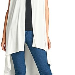 Women's Short Sleeve Ultra Soft Bamboo Layering Long Duster Cardigan - Made in USA   Amazon (US)