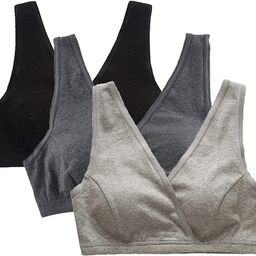 3 Pack Maternity Nursing Bra for Sleep Cotton Breastfeeding Bras   Amazon (US)