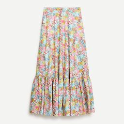 Tiered maxi skirt in Liberty® Patchwork Dream floral | J.Crew US