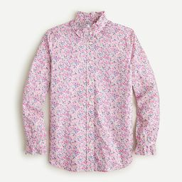 Classic-fit ruffleneck shirt in Liberty ® Phoebe floral | J.Crew US