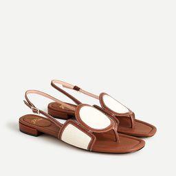 Abbie sandals with geometric canvas strap | J.Crew US