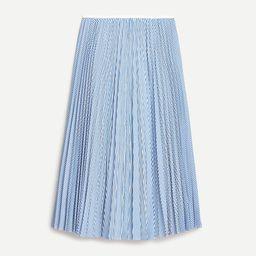 Pleated midi skirt in stripe | J.Crew US