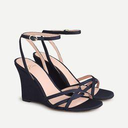 Wedge sandals in silk faille | J.Crew US