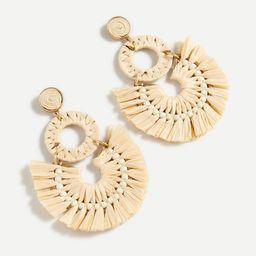 Raffia fan statement earrings | J.Crew US