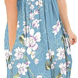 DB MOON Women Summer Casual Short Sleeve Dresses Empire Waist Dress with Pockets   Amazon (US)