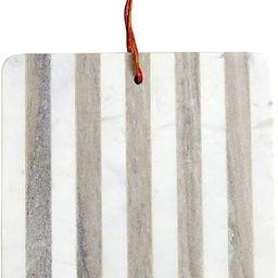 "Mud Pie Marble Stripped Board, 11"" x 11"", WHITE | Amazon (US)"