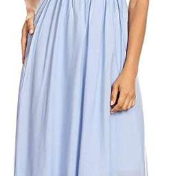 Anna-Kaci Womens Boho Peasant Ruffle Stretchy Short Sleeve Long Dress   Amazon (US)