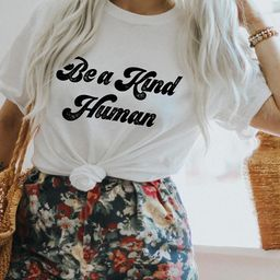 Be A Kind Human Shirt  Be Kind Graphic Tee  Be Kind TShirt   Etsy   Etsy (US)