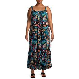 Terra & Sky Women's Plus Size Sleeveless Tiered Maxi Dress | Walmart (US)