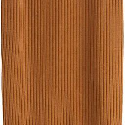 SheIn Women's Basic Plain Stretchy Ribbed Knit Split Full Length Skirt   Amazon (US)