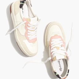 Court Sneakers in Colorblock Suede and Snakeskin Embossed Leather | Madewell
