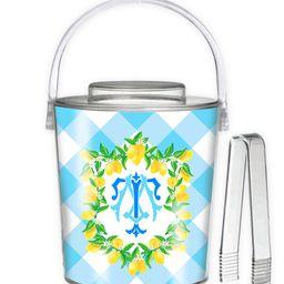 Lemon Crest, Blue Skies, 3 Qt. Acrylic Ice Bucket | Taylor Beach Design