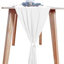 Chiffon-Table-Runner White 29x120 Inch Sheer Table Runner 10FT Long GardenTableRunner Chiffon... | Amazon (UK)
