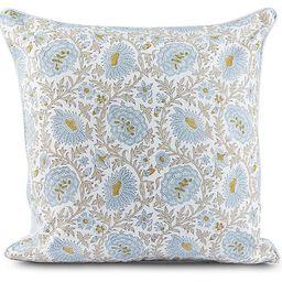 Babel 20x20 Pillow, Light Blue/Straw | One Kings Lane