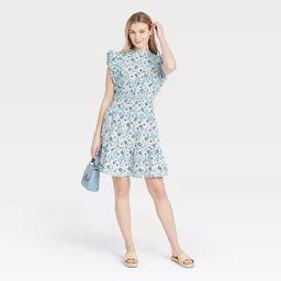 Women's Floral Print Flutter Sleeveless Dress - Universal Thread™   Target