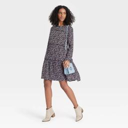 Women's Floral Print Long Sleeve Babydoll Dress - Knox Rose™   Target