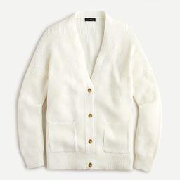 V-neck cotton-cashmere cardigan sweater | J.Crew US