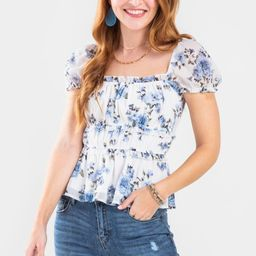 Jenna Watercolor Floral Blouse | Francesca's Collections