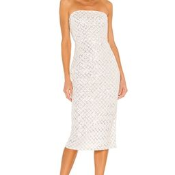 Camila Coelho Ellery Midi Dress in Silver from Revolve.com | Revolve Clothing (Global)